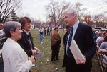 President Minor Myers and guests at library Ground Breaking.