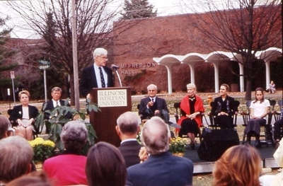 President Minor Myers, Jr. speaking at Ground Breaking Ceremony