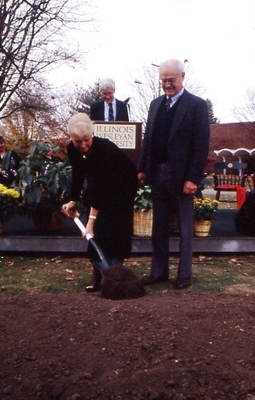 Joyce Eichhorn Ames Breaking Ground for New Library