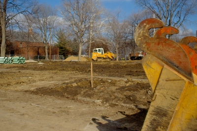 Ground is cleared for new library.