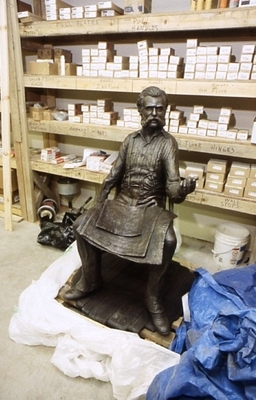 John Wesley Powell awaiting installation.