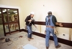 Trim installation in project room.