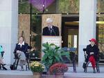 President Myers speaking at the Dedication Cermony.