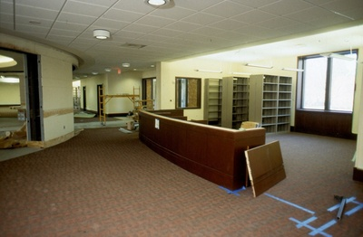 View of the new Circulation desk.