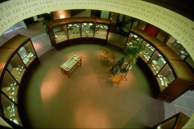 The John Wesley Powell Rotunda and Pottery Collection.