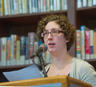 Madeline Tyner reads her poem <em>At Ames Library: A Ghazal</em>.