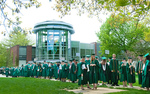 The Class of 2013 assembled for the Processional prior to Commencement. by Marc Featherly