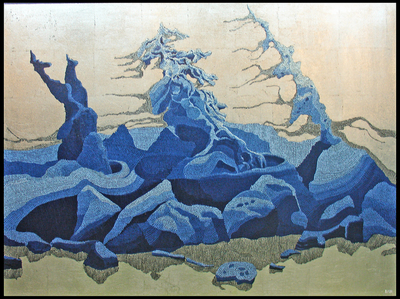 <em>Pines in the Winter Wind</em> by School of Art faculty Miles Bair.