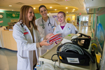 Nursing interns working at Childrens Hospital of Illinois in Peoria.