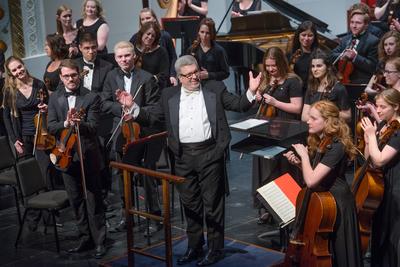 Professor Eggleston's farewell concert.