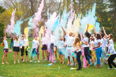 Students Celebrate Holi, the Festival of Colors