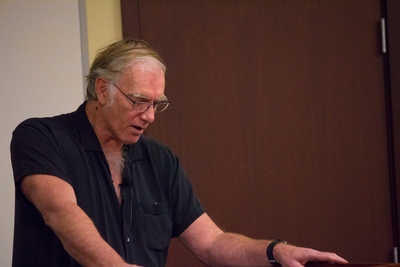 Filmaker John Sayles, reading from his novel A Moment in the Sun