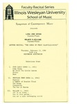 Symposium of Contemporary Music, 1986 by School of Music