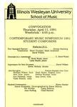 Contemporary Music Symposium, 1991