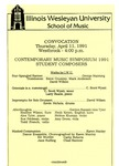 Contemporary Music Symposium, 1991 by School of Music