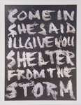 """Shelter From the Storm,"" lyrics by Bob Dylan"