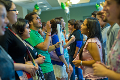 Students at the SALSA Mixer, August 2011