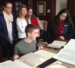 Students in the Tate Archives, Fall 2015 by Illinois Wesleyan University