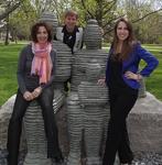 Professors Cesar Valverde and Christina Isabelli with invited speaker, Alissa Hoffenberg Bencks, Class of 2003