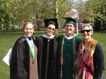 Hispanic Studies faculty with Nathan Douglas, Class of 2015