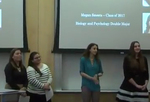 Artistic and Scholarly Sessions: Can a Multicellular Bacterium Prepare Students for Multiple Career Paths? by Loralyn Cozy; Rachel Ende, Class of 2016; Megan Smeets, Class of 2017; and Christina Khouri, Class of 2016