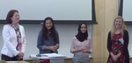 Artistic and Scholarly Sessions: At the Crossroads: Anthropology, Interfaith, and Experiential Learning by Rebecca Gearhart; Elyse Nelson Winger; Sana Shafiuddin, Class of 2017; and Lisa Mishra, Class of 2015