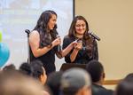 Barrio Fiesta poetry reading by Monica Muñoz and Yesenia Martinez