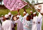 49. Zefe in Takaungu with banners and twari
